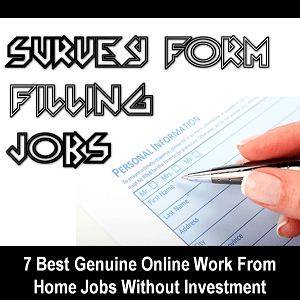 Online Form Filling Job Without Investment In India on